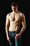 Muscle sexy young man Royalty Free Stock Images