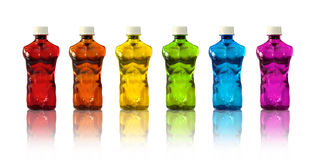Muscle sports drinks Royalty Free Stock Photo