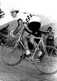 Muscular work. The grit of Delisle at the Cycling Tour of France in 1976 Stock Images