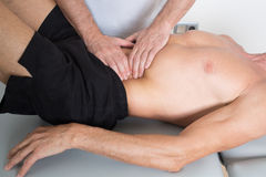 Muscle tissue massage royalty free stock images