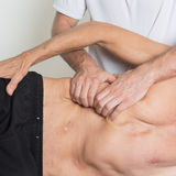 Muscle tissue massage royalty free stock photos
