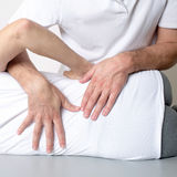 Muscle tissue massage stock photo