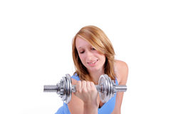 Muscle training Stock Photo
