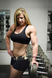 Muscle woman Stock Image