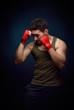 Muscle young man training Stock Image