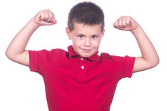 Muscled boy Royalty Free Stock Photos