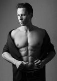 Muscled male model Stock Photo