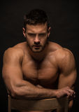 Muscled male model Konstantin Kamynin Stock Image