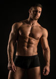 Muscled male model Konstantin Kamynin Royalty Free Stock Image