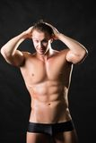 Muscled male model Stock Image