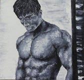 Muscled man Stock Photos
