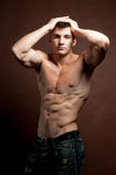 Muscled model Royalty Free Stock Images