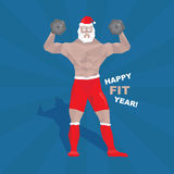 Muscled santa claus Royalty Free Stock Photography