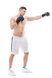 Muscled sportsman training Royalty Free Stock Images