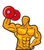 muscleman ισχυρός απεικόνισης διανυσματική απεικόνιση