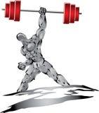 muscleman srebro Obraz Royalty Free