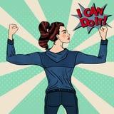 Muscles d'Art Confident Athletic Woman Showing de bruit illustration libre de droits