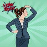 Muscles d'Art Confident Business Woman Showing de bruit Images libres de droits