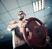 Muscles exercise Stock Photography