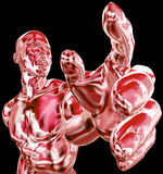 Muscles humains abstraits Photographie stock