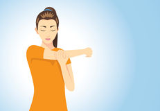 Muscles stretching posture Royalty Free Stock Photos