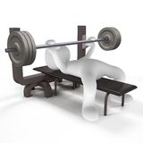 Training. Muscles you train with heavy equipment in the gym Royalty Free Stock Photography