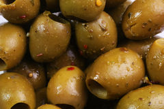 Musco Olives. Deli olives, seasoned with herbs Royalty Free Stock Photos