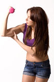 Muscoli di Chacking fotografie stock