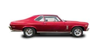 Muscolo-automobile americana d'annata Priorità bassa bianca Immagine Stock Libera da Diritti