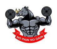 Muscolo Barbel di rinoceronte illustrazione di stock