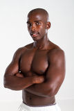 Muscular african american man Stock Images
