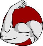 Muscular arm logo icon emblem Stock Images