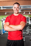 Muscular athlete Stock Photo