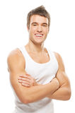 Muscular athlete man Royalty Free Stock Images