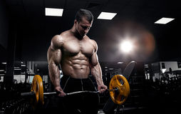 Muscular athletic bodybuilder Stock Images