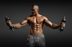 Muscular athletic bodybuilder Stock Photography