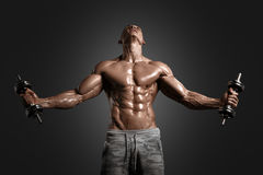 Muscular athletic bodybuilder Stock Photo