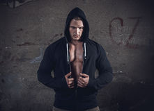 Muscular atractive guy Royalty Free Stock Photo
