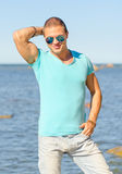 Muscular attractive man. Stock Image