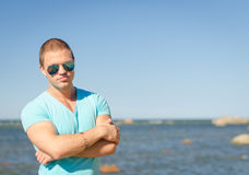 Muscular attractive man. Royalty Free Stock Photos