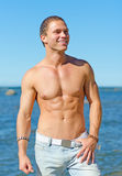 Muscular attractive man. Stock Images