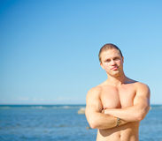 Muscular attractive man. Stock Photo