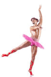 Muscular ballet performe Royalty Free Stock Images