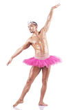 Muscular ballet performer Royalty Free Stock Photography