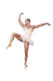 Muscular ballet performer. In funny concept Stock Photos