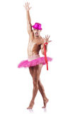 Muscular ballet performer Royalty Free Stock Image