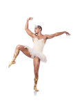 Muscular ballet performer Stock Images