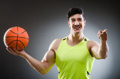 Muscular basketball in sports concept Royalty Free Stock Photos