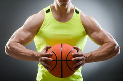 Muscular basketball in sports concept Stock Photography