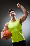 Muscular basketball in sports concept Royalty Free Stock Image